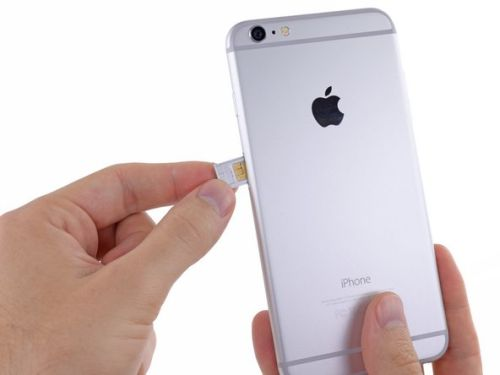 cell phone SIM card removal